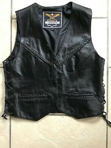 Ladies Harley Style  leather waistcoat size Small