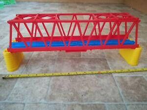 Trackmaster Tomy Blue Train Track Red Suspension Bridge Trees Thomas Tank Engine