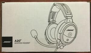 One Bose A20 Aviation Headset -  Twin Plug, Bluetooth - 324843-3020