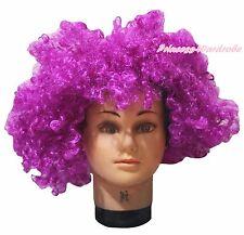 Halloween New Purple Afro Curly Wig Unisex Costume HA27