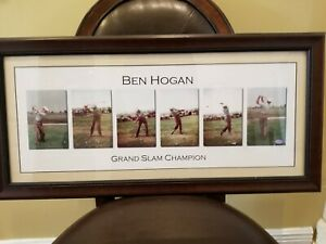 Ben Hogan framed 6 color swing image from various angles