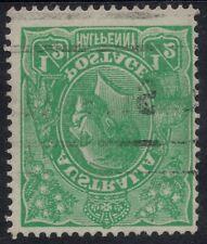 KGV 1/2d GREEN SINGLE WMK VARIETY * INVERTED WATERMARK * ACSC B/W 63a sg 20 w VF