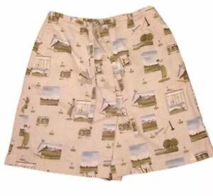 Liz Claiborne Lizgolf Womens Shorts Skirt Skort Sport Size 4 Cotton Golf Theme