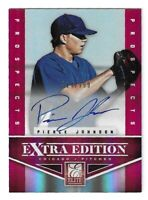 2012 ELITE EXTRA EDITION PIERCE JOHNSON PROSPECTS AUTO #148 SEATTLE 314/799 CUBS