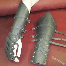 Men Medieval Bracers Wide Arm Guard Armor Cuff Steampunk Gauntlet Armband Cos