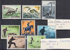 San Marino SC#529-533 Hunting, SC#612-614 Dinosaurs LOT MNH