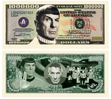 Star Trek Voyager Seven of Nine 5 images plus $1000000 Spock dollar Bill FREE*