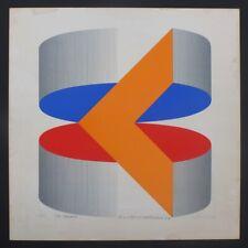 Komposition mit 2 Scheiben, Geometrische Abstraktion, signiert