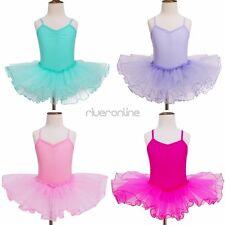 Turnanzug Ärmellos Ballettkleid Kurz Tanzanzug Tütü Kleid für Mädchen Kinder