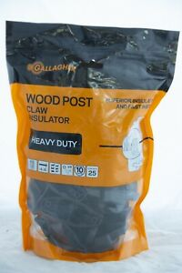 Gallagher Wood Post Claw Insulator Packet of 25 (G67304)