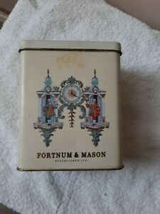 Fortnum & Mason Tea Tin/Caddy.Vintage .     Clock motif.4pm. Good Cond few flaws