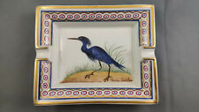 HERMES Paris - Aschenbecher - ashtray - Florida Caerulea - Goldrand - Blaureiher