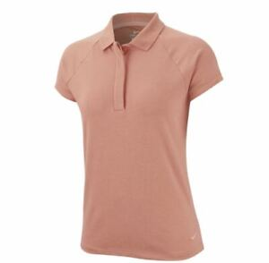 Nike Dri-Fit UV Golf Polo Cap Sleeve Polo Coral AR4262-606 Women Size Large New