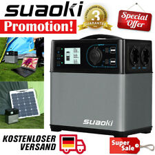 Suaoki 400Wh Portable Solar Power Generator Supply, Solar/AC Outlet/Cars 4USB