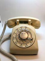 Vintage Rotary Dial Desk Telephone Phone TAN/BEIGE Western Electric Bell