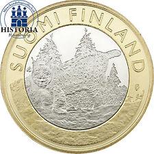Finnland 5 Euro Münze 2015 bfr. Tiere der Provinzen: Luchs - Tavastia Häme