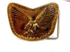 Vintage Handmade American Eagle Belt Buckle by Buckler