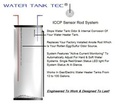 Powered Water Heater Anode Rod Stops Odor & Internal Tank Corrosion Permanently.