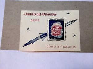 PARAGUAY 1963 SPACE POSTAGE STAMP #751a Mint NH Sheet  *** FREE USA SHIPPING ***