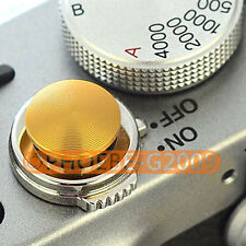 Gold Metal Soft Release Button for Leica Contax Fujifilm X100 size:L