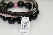 FOSSIL Damen Edelstahl Armband Armreif Armkette 3 Teile schwarz JF85859 rar NEU