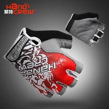 Red Fashion Cycling Bike Bicycle Women Sports Wearable Half Finger Glove S/M/L