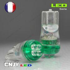 2 AMPOULE 4 LED RONDE T10 CULOT W5W WY5W W3W W2.1x9.5d VERT XENON 60° 12V