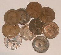 Great Britain/UK 1902 - 1910 - King Edward VII Bronze Half-Pennies - Select Date