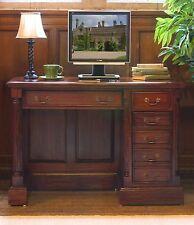 La Roque solid mahogany office furniture single pedestal computer PC desk