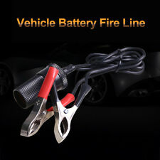 12Volt Battery Terminal Clip-on Car Cigarette Lighter Socket Adapter Plug Rakish