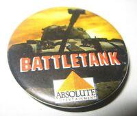 Battletank Nintendo Video Game Promo Pin Back Button Absolute Tank FREE Ship