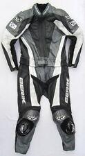 Sehr gut erhaltene BERIK Gr. 52 Zweiteiler Lederkombi schwarz grau Leather Suit