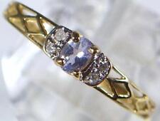 Aquamarine Round Fine Diamond Rings