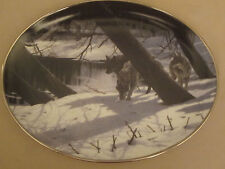 Wolf collector plate Moonlight Shadows Persis Clayton Weirs Winter Shadow wolves