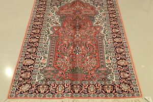 Genuine Hand-Woven Kashmir 3'x5' SILK ONE OF A KIND TREE OF LIFE