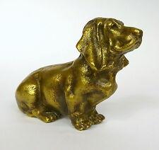 Bronze Hund Basset um 1900