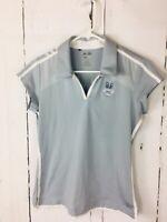 Adidas Women's Size Small Petite Golf ClimaCool Blue Short Sleeve Polo Shirt