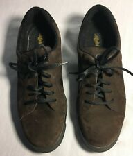 Women Ecco Flexzone MobileComfort Brown Suede Leather Oxford Sneaker Shoes Sz 10