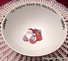 Portmeirion Studio CHRISTMAS STORY Bowl Santa In Hopes St Nick Susan Winget
