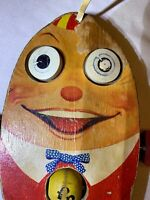 Vintage 1950's Fisher-Price Humpty Dumpty #757 GC 70 year Age Free Shipping L@@K