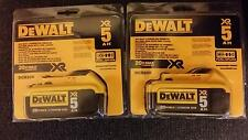 DeWalt 2 x 20 V MAX Premium XR 5.0Ah Lithium Ion Battery NIP DCB205 - 2