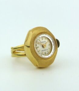 TIME MASTER - SWISS MADE JEWELLED SHOCK PROTECTED ADJUSTABLE RING WATCH