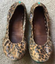 Tieks Leopard Animal Print Leather Ballet Flats Shoes Size 9 M $235 Rare