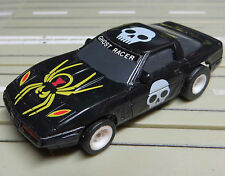 für H0 Slotcar Racing Modellbahn --  Corvette *Ghost Racer* mit  Tomy Chassis