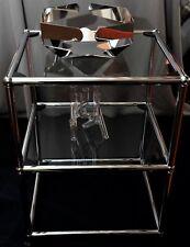 USM Haller: Beistelltisch, Nachttisch o.ä. mit 2 Glasböden TOP rd. 55 cm hoch