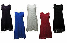 Unbranded Knee Length Sleeveless Tunics for Women