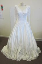 Mori Lee Vintage Wedding Dress  Long Train Sparkly Traditional Princess Size 16