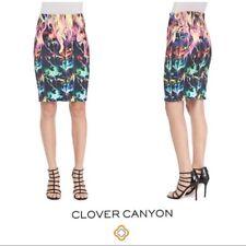 CLOVER CANYON  Flamenco Fire Printed Neoprene Skirt SZ SMALL