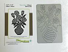 New listing Nip Die-Versions Whispers Vase of Roses Dvw 4x6 202 new Emboss Stencil Die Cut