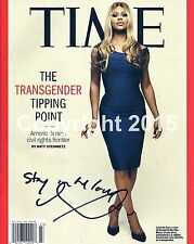 Laverne Cox Autograph Reprint Signed Time Magazine Transgender Tipping Point